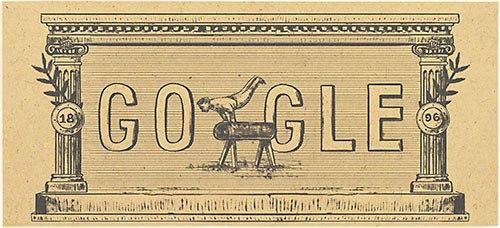 近代オリンピック Googleロゴ